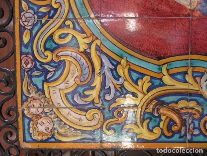 Antigüedades: Retablo ceramico Virgen de los Reyes (azulejos) - Foto 4 - 114127403