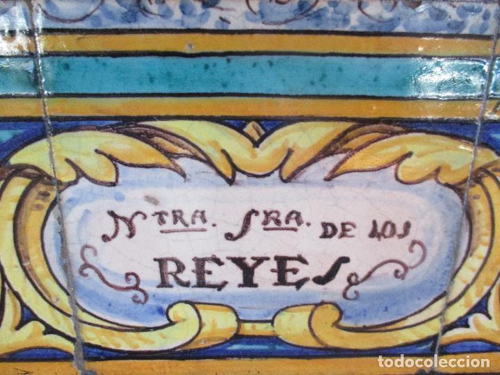 Antigüedades: Retablo ceramico Virgen de los Reyes (azulejos) - Foto 5 - 114127403