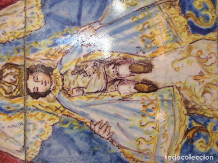 Antigüedades: Retablo ceramico Virgen de los Reyes (azulejos) - Foto 7 - 114127403