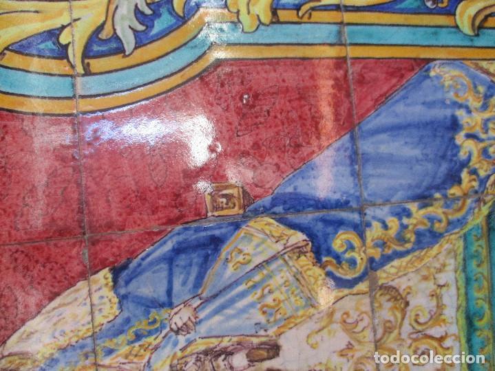 Antigüedades: Retablo ceramico Virgen de los Reyes (azulejos) - Foto 8 - 114127403