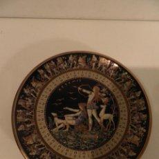 Antigüedades: PLATO DE GRECIA HECHO O PINTADO A MANO , ORO 24 K , 14 CM DIAMETRO. Lote 114128395