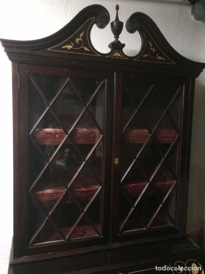Antigüedades: Antiguo mueble secreter - Foto 2 - 114128976