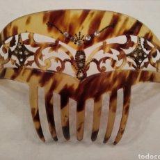 Antigüedades: PEINETA 9 CM SIMIL CAREY SIGLO XX. Lote 114152426