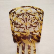 Antigüedades: PEINETA 16 CM SIMIL CAREY SIGLO XX. Lote 114153095