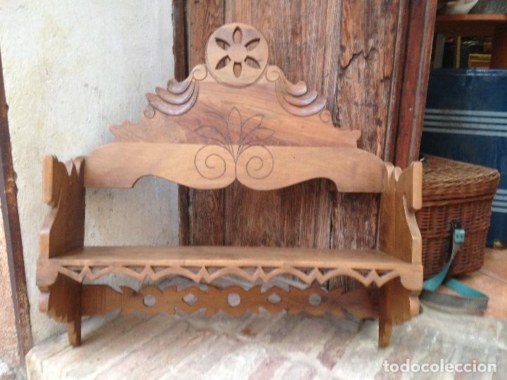 ESTANTE-ALACENA EN MADERA DE NOGAL (Antigüedades - Muebles Antiguos - Aparadores Antiguos)