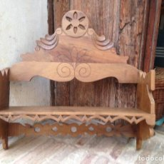 Antigüedades: ESTANTE-ALACENA EN MADERA DE NOGAL. Lote 114196755