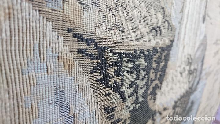 Antigüedades: ANTIGUO TAPIZ DE HILO NATURAL, MOTIVOS AFRICANOS - Foto 10 - 114204159