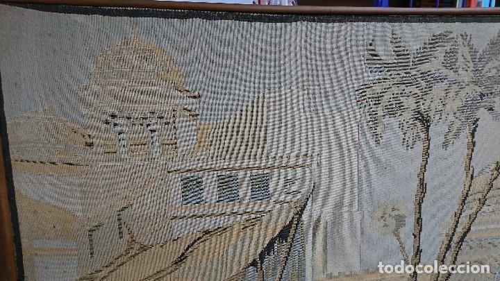 Antigüedades: ANTIGUO TAPIZ DE HILO NATURAL, MOTIVOS AFRICANOS - Foto 11 - 114204159