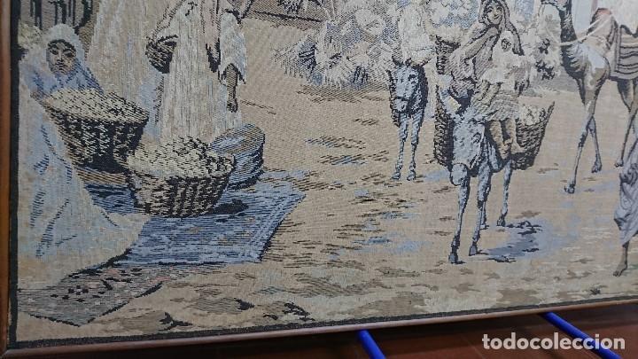 Antigüedades: ANTIGUO TAPIZ DE HILO NATURAL, MOTIVOS AFRICANOS - Foto 14 - 114204159