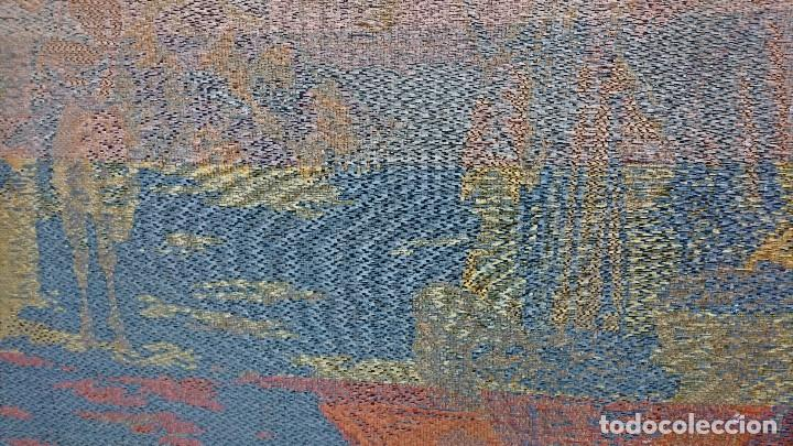 Antigüedades: ANTIGUO TAPIZ DE HILO NATURAL, MOTIVOS AFRICANOS - Foto 16 - 114204159