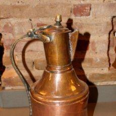 Antigüedades: RARA ACEITERA DE COBRE. Lote 114216179