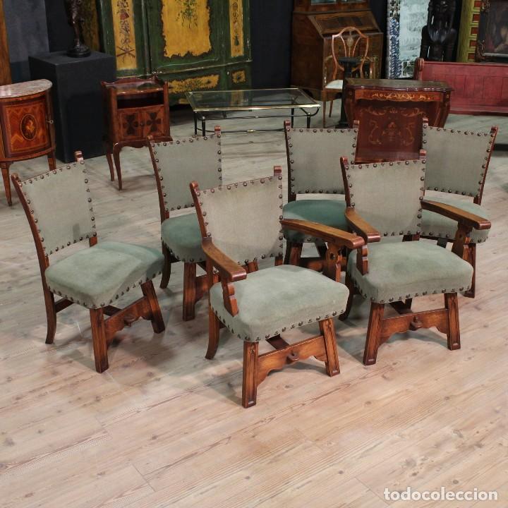 Par de sillones r sticos en madera de roble comprar for Sillones rusticos de madera