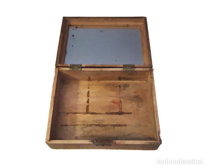 Antigüedades: antigua caja de la virgen del Pilar , preciosa. - Foto 3 - 114238603