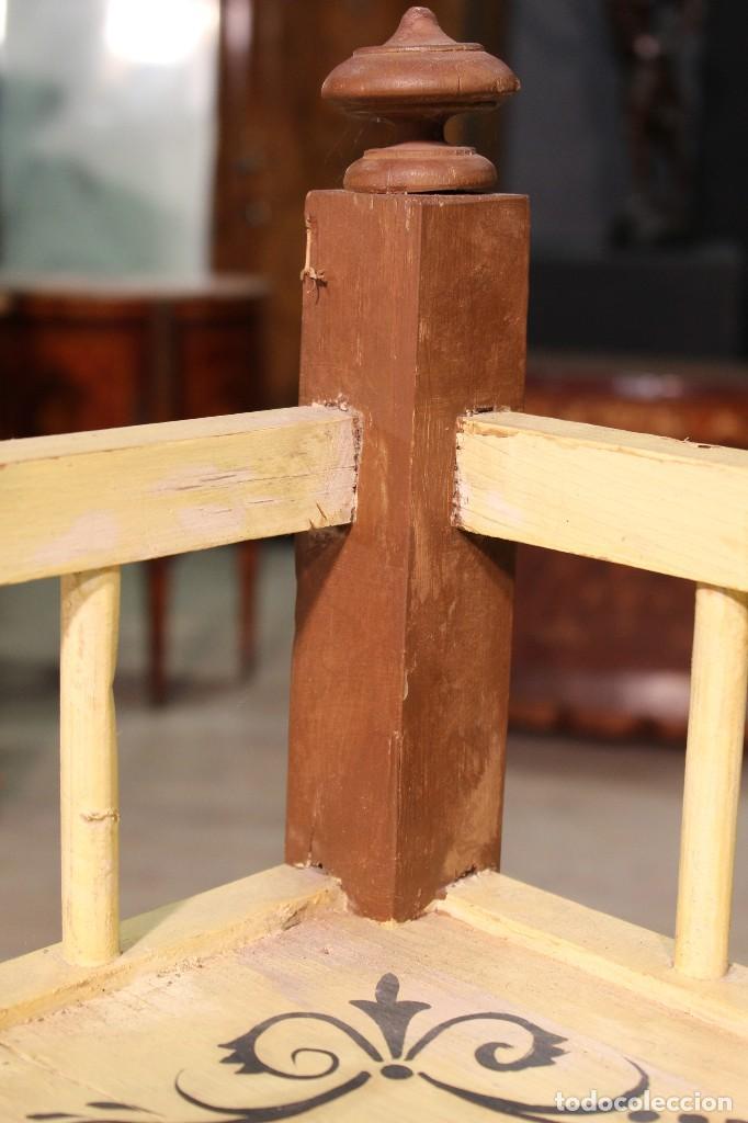 Antigüedades: Florero en madera pintado a la mano - Foto 7 - 114240539