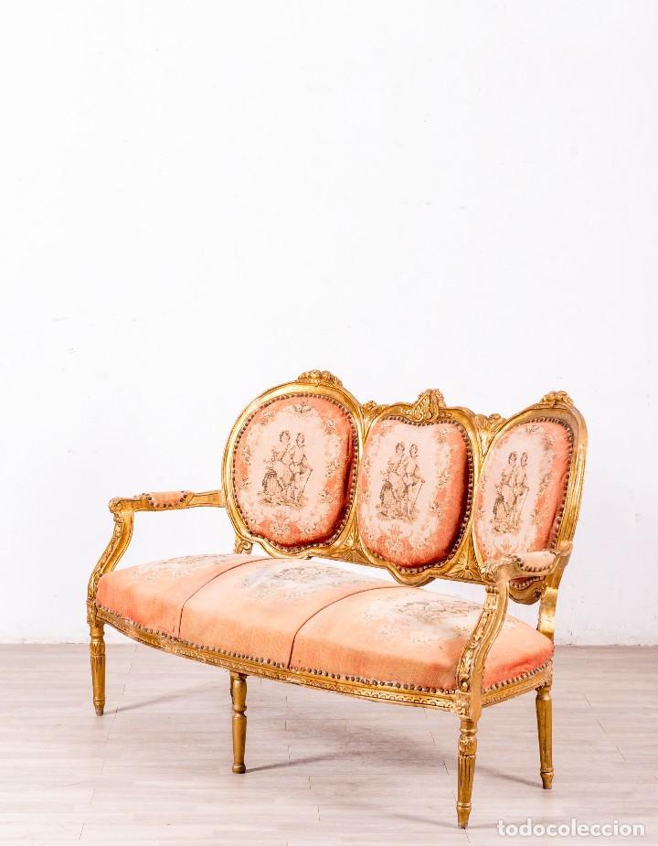Antigüedades: Sofá Antiguo Luis XVI Época - Foto 2 - 114255067