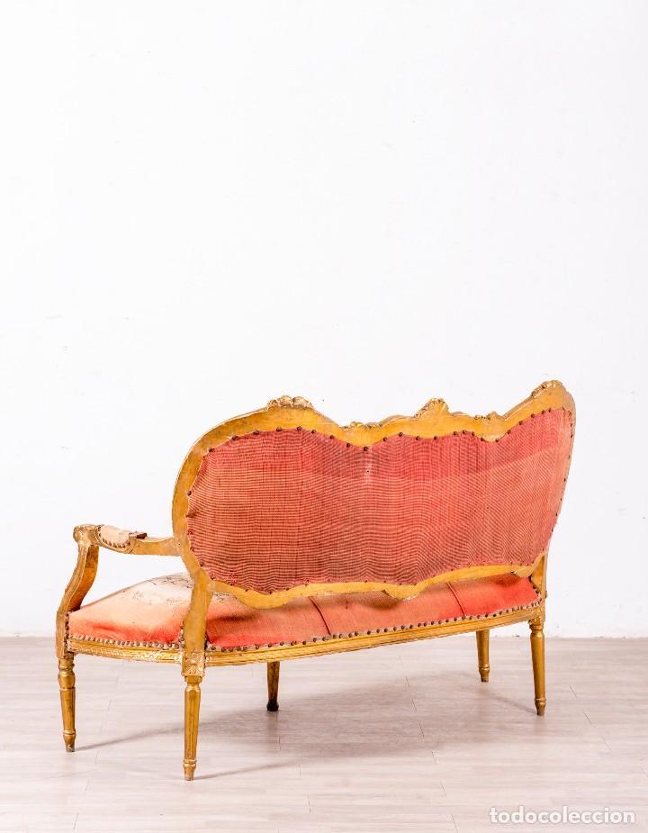 Antigüedades: Sofá Antiguo Luis XVI Época - Foto 3 - 114255067
