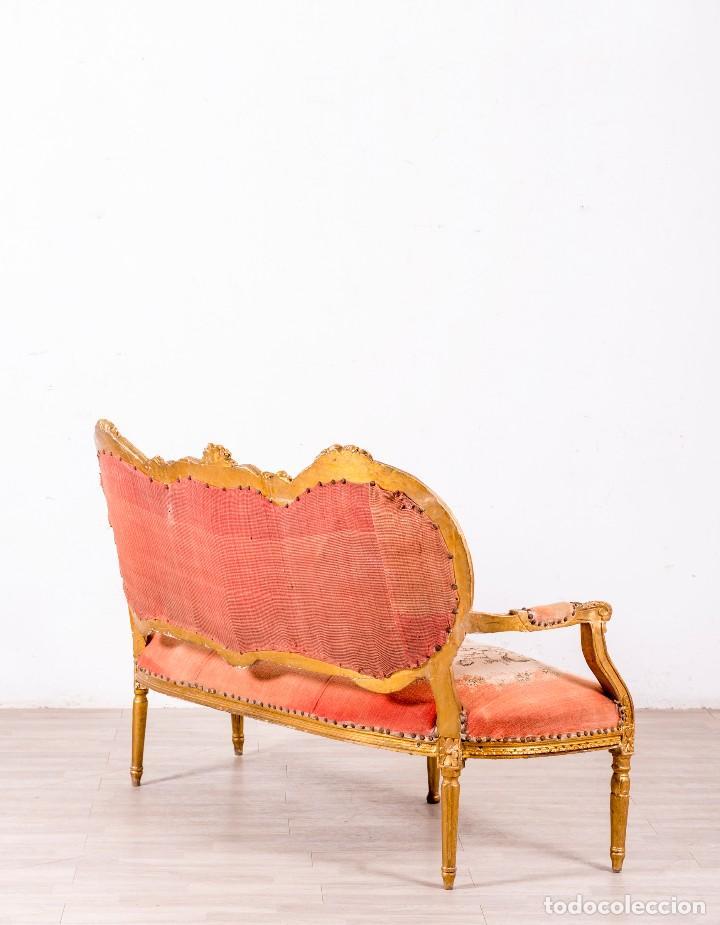 Antigüedades: Sofá Antiguo Luis XVI Época - Foto 4 - 114255067