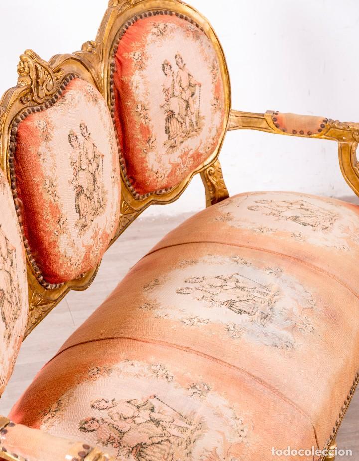 Antigüedades: Sofá Antiguo Luis XVI Época - Foto 6 - 114255067