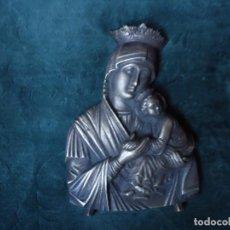 Antigüedades: VIRGEN DEL PERPETUO SOCORRO EN BRONCE. Lote 114259067