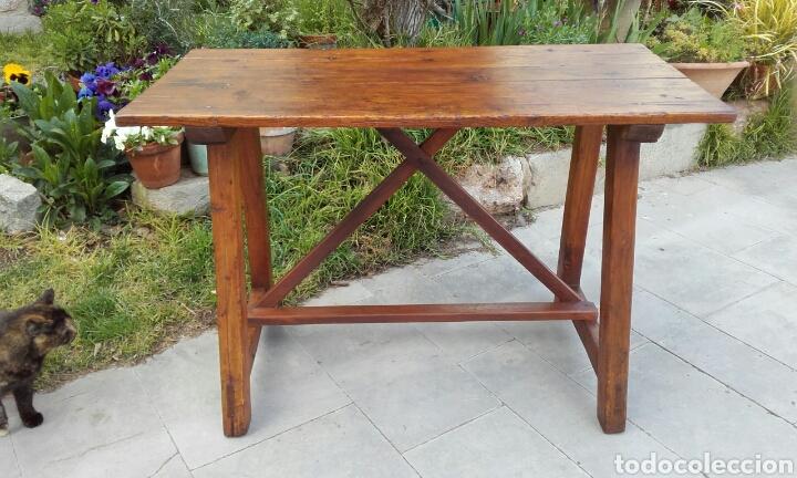 antigua mesa rústica de cocina en pino. s.xviii - Comprar Mesas ...