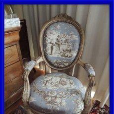 Antigüedades: SILLON BUTACA LUIS XVI DE EPOCA S. XVIII. Lote 114275011
