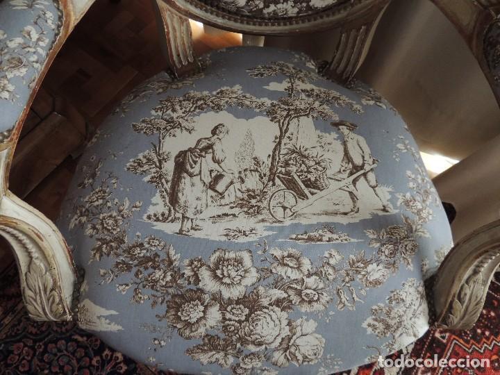 Antigüedades: SILLON BUTACA LUIS XVI DE EPOCA S. XVIII - Foto 11 - 114275011