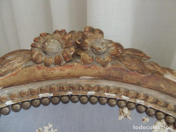 Antigüedades: SILLON BUTACA LUIS XVI DE EPOCA S. XVIII - Foto 12 - 114275011