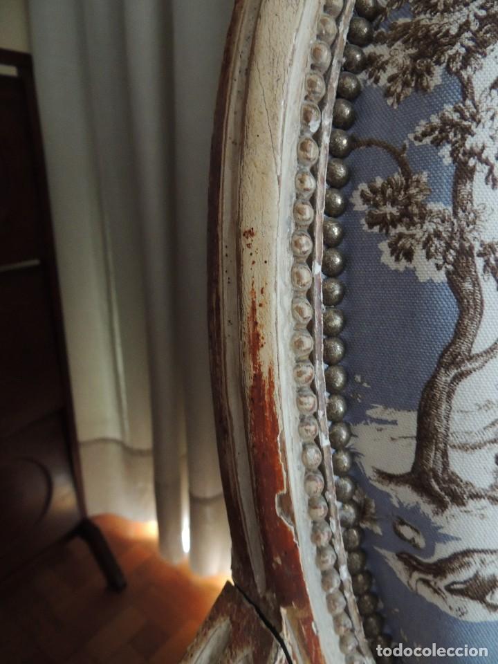 Antigüedades: SILLON BUTACA LUIS XVI DE EPOCA S. XVIII - Foto 13 - 114275011