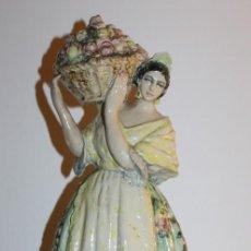 Antigüedades: ANTONIO PEYRO MEZQUITA - CERÁMICA ESMALTADA - TÍTULO: FLOR DE TÉ VALENCIA 1936 - ALTURA: 47.5 CM.. Lote 114285315