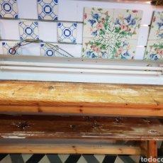 Antigüedades: LÁMPARA DE FABRICA INDUSTRIAL CON SU PINTURA ORIGINAL.. Lote 114286770