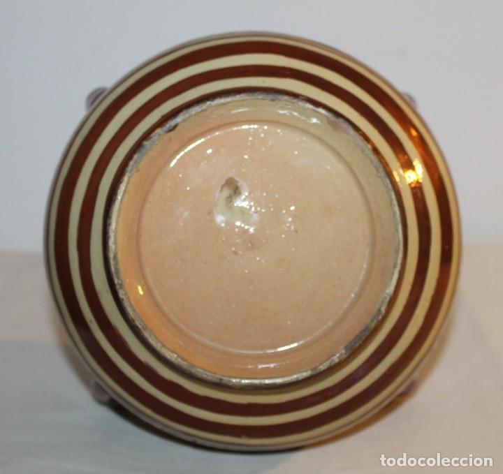 Antigüedades: JARRÓN DE 4 ASAS - CERÁMICA REFLEJOS METÁLICOS - MANISES - INSCRIPCIÓN ÁRABE - PRINCIPIOS SIGLO XX - Foto 6 - 114288787