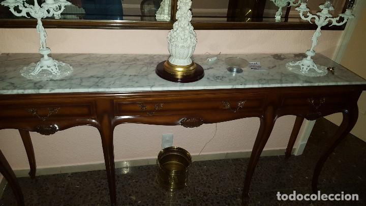 consola de nogal con encimera de marmol antigedades muebles antiguos consolas antiguas - Encimera Marmol