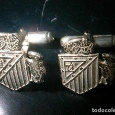 Antigüedades: GEMELOS ATLETICO DE MADRID EN PLATA DE LEY 925ML.CON OSO Y MADROÑO. Lote 114311979