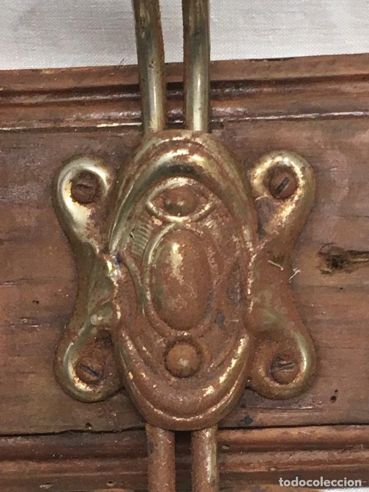 Antigüedades: Perchero colgador madera metal - Foto 9 - 114331451