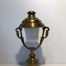 Antigüedades: CANDIL O LAMPARA DE MARIPOSAS ANTIGUA.. Lote 114343243