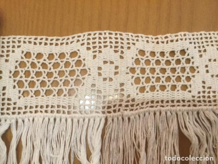 Antigüedades: Punta de bolillos con flecos - Foto 3 - 114343439