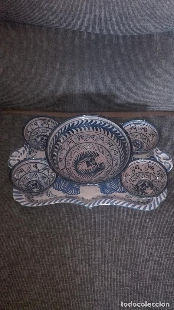 JUEGO DE CERÁMICA GRANADINA ANTIGUA (Antigüedades - Porcelanas y Cerámicas - Otras)