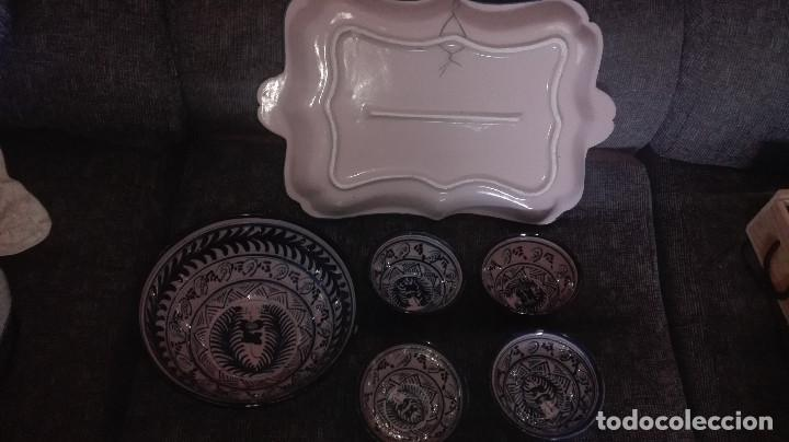 Antigüedades: juego de cerámica granadina antigua - Foto 6 - 114358655