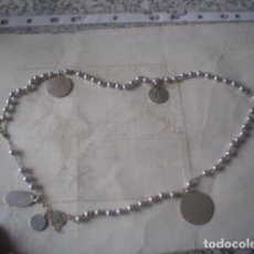 Antigüedades: PRECIOSO ROSARIO CON 7 MEDALLAS EN PLATA SIGLO XIX. Lote 114376727