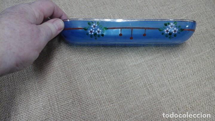 Antigüedades: Juego de tocador años 30 . Cristal pintado con flores esmaltadas - Foto 6 - 114404343