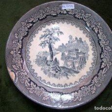 Antigüedades: PLATO EN LOZA ESMALTADA DE SARGADELOS SERIE VISTAS S XIX.. Lote 114420859