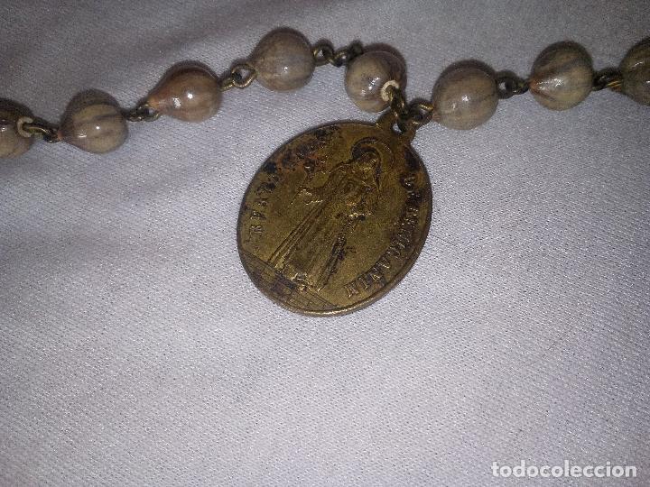 Antigüedades: Valencia. Robusto rosario antiguo con 6 medallas de calidad. Siglo XIX. Espectacular estado - Foto 5 - 114441407