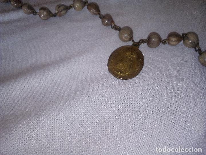 Antigüedades: Valencia. Robusto rosario antiguo con 6 medallas de calidad. Siglo XIX. Espectacular estado - Foto 6 - 114441407