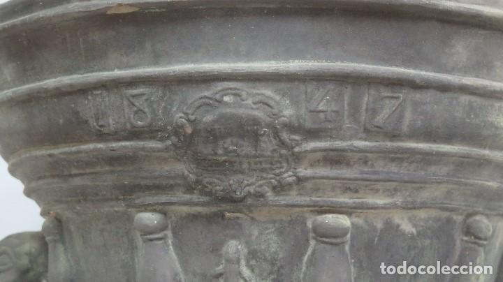 Antigüedades: MAGNIFICO MORTERO DE TERRACOTA. MARCO QUART. GERONA. GRAN TAMAÑO - Foto 2 - 114445847