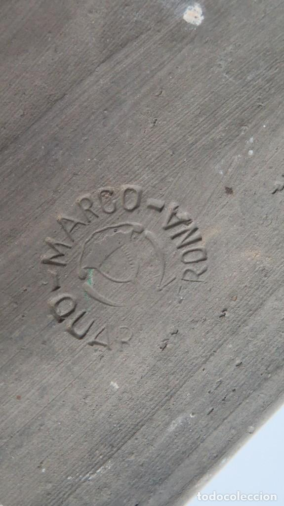 Antigüedades: MAGNIFICO MORTERO DE TERRACOTA. MARCO QUART. GERONA. GRAN TAMAÑO - Foto 6 - 114445847