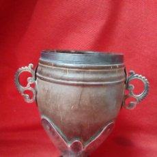 Antigüedades: ANTIGUA COPA. COCO. PLATA. CHOCOLATERO. Lote 114451591