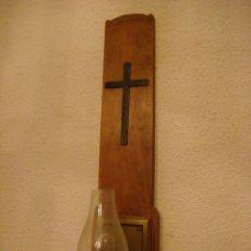Antigüedades: LAMPARA APLIQUE DE PARED RELIGIOSO TIPO CANDIL CON SUS CABLES PARA INSTALAR (#). Lote 114462083