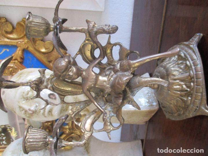 Antigüedades: Pareja de candelabros de bronce siglo XIX - Foto 2 - 114475027