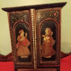 Antigüedades: CAJA JOYERO INDIA ANTIGUA XIX. Lote 114480211
