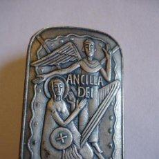 Antigüedades: ANCILLA DEI. ANUNCIACIÓN. 4,5 X3 CMS. BROCHE PIN PARA SOLAPA. MEDIDAS . Lote 114527335